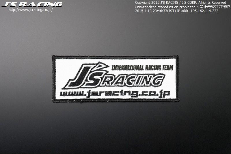J's Racing Small Racing Emblem - White
