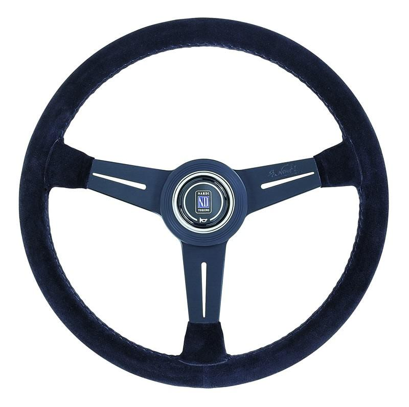 Nardi Classic Steering Wheel - Black Suede with Black Spokes - 330mm