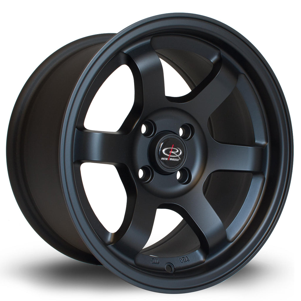 Rota Grid in Flat Black 16x7, 4x100, ET40