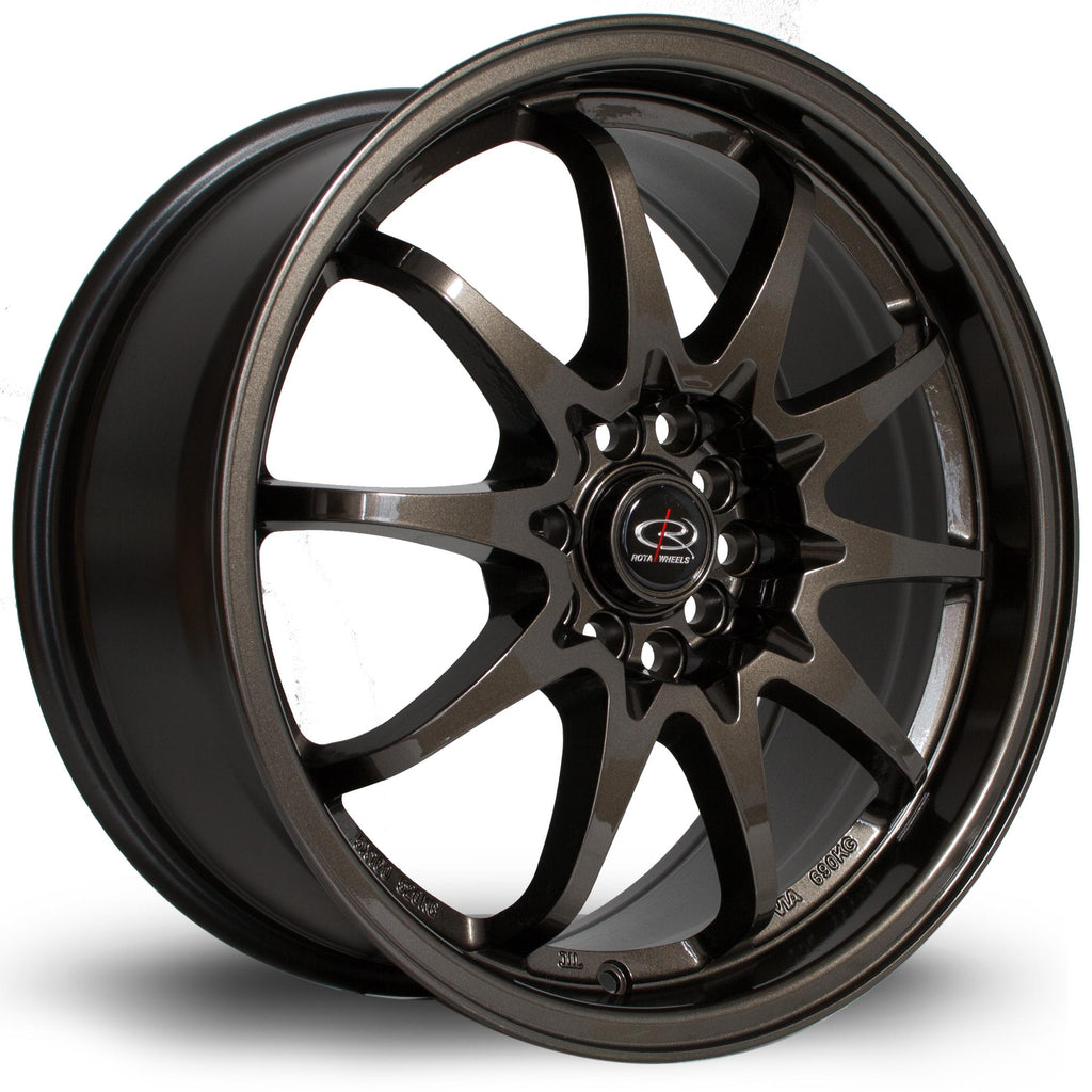 Rota Fighter in Gunmetal 17x9, 5x100, 5x114.3, ET50