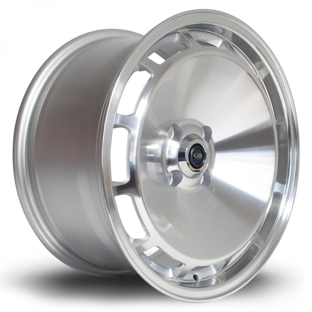 Rota D154 in Silver with polished face 16x8, 4x108, ET20