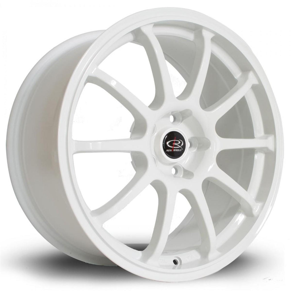Rota Force in White 18x8.5, 5x100, ET48