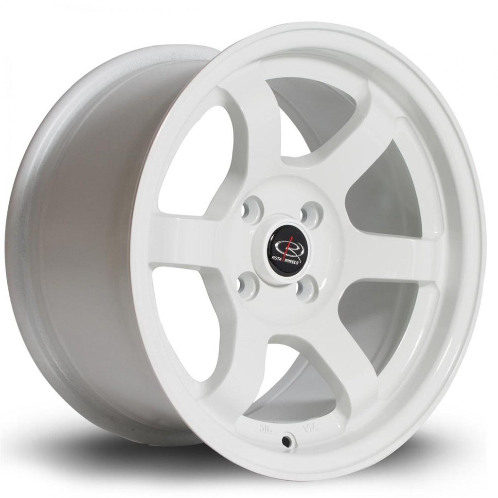 Rota Grid in White 18x8.5, 5x114.3, ET30