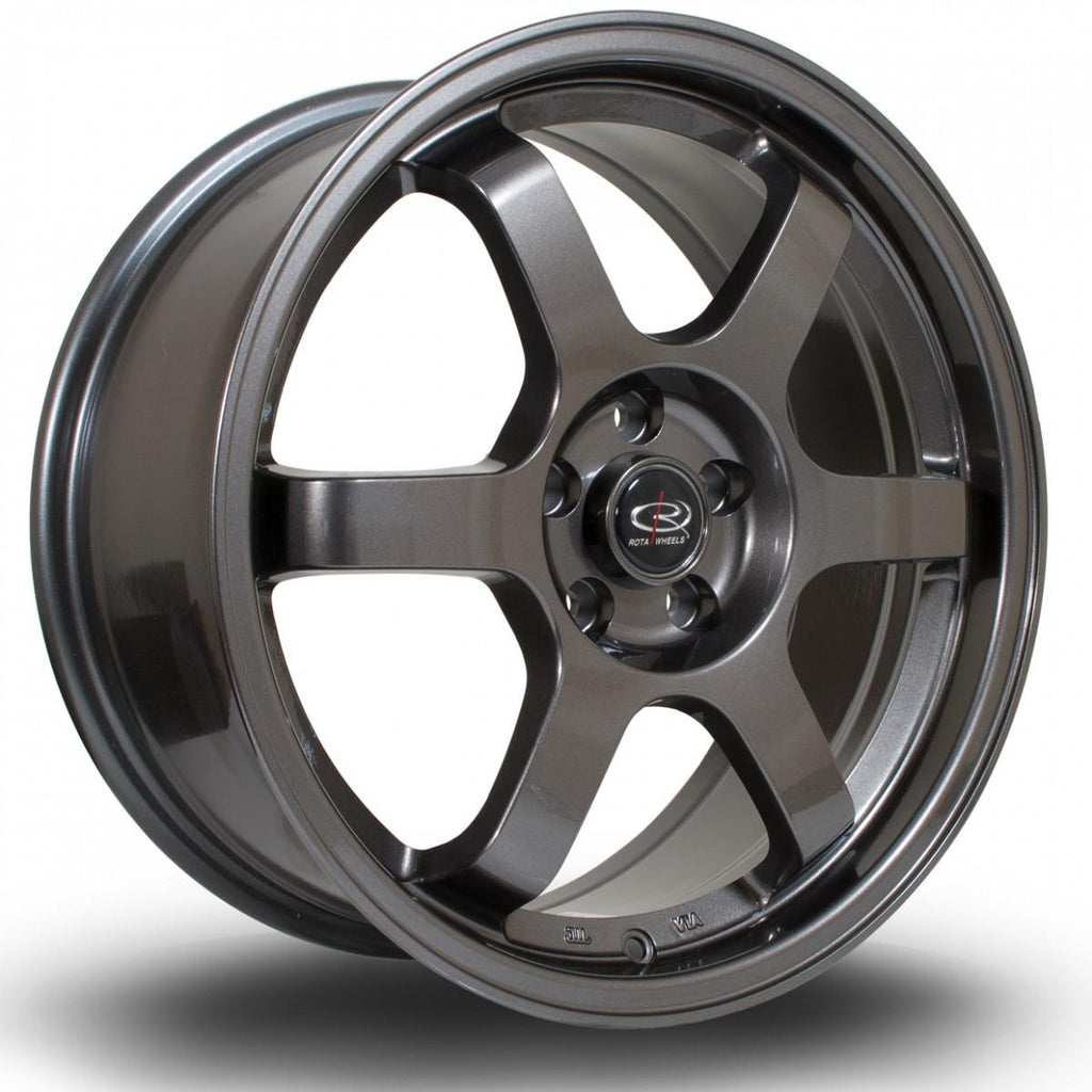 Rota Grid in Gunmetal 19x9.5, 5x120, ET45