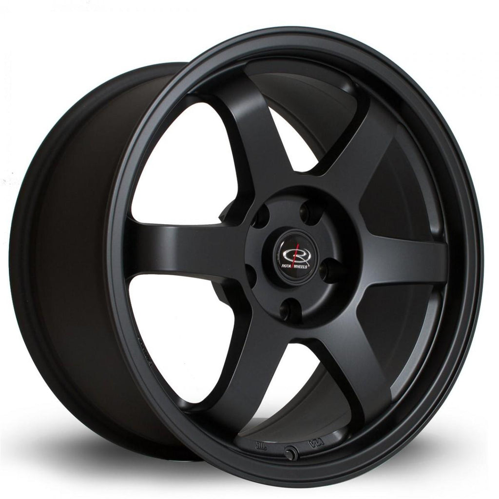 Rota Grid in Flat Black 17x7.5, 5x114.3, ET45