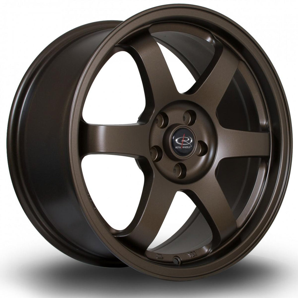 Rota Grid in Matte Bronze 3 17x9, 5x100, ET30
