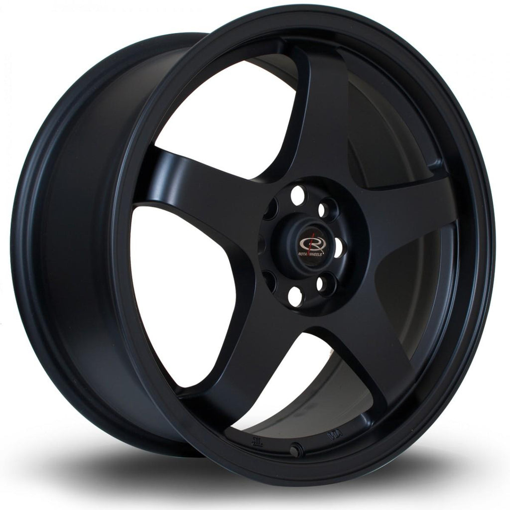 Rota GTR in Flat Black 18x8.5, 5x120, ET35