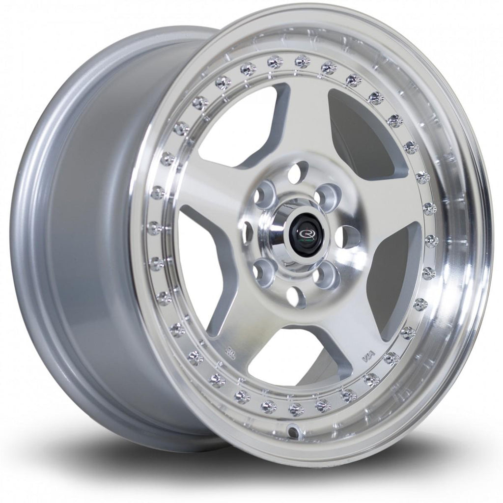 Rota Kyusha in Silver with polished face 17x9.5, 5x114.3, ET0
