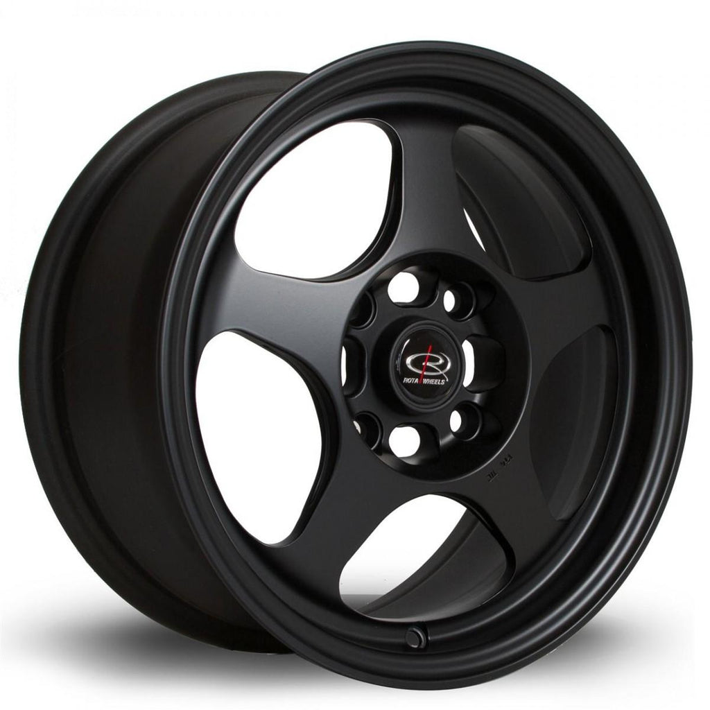 Rota Slipstream in Flat Black 16x8, 4x100, ET34