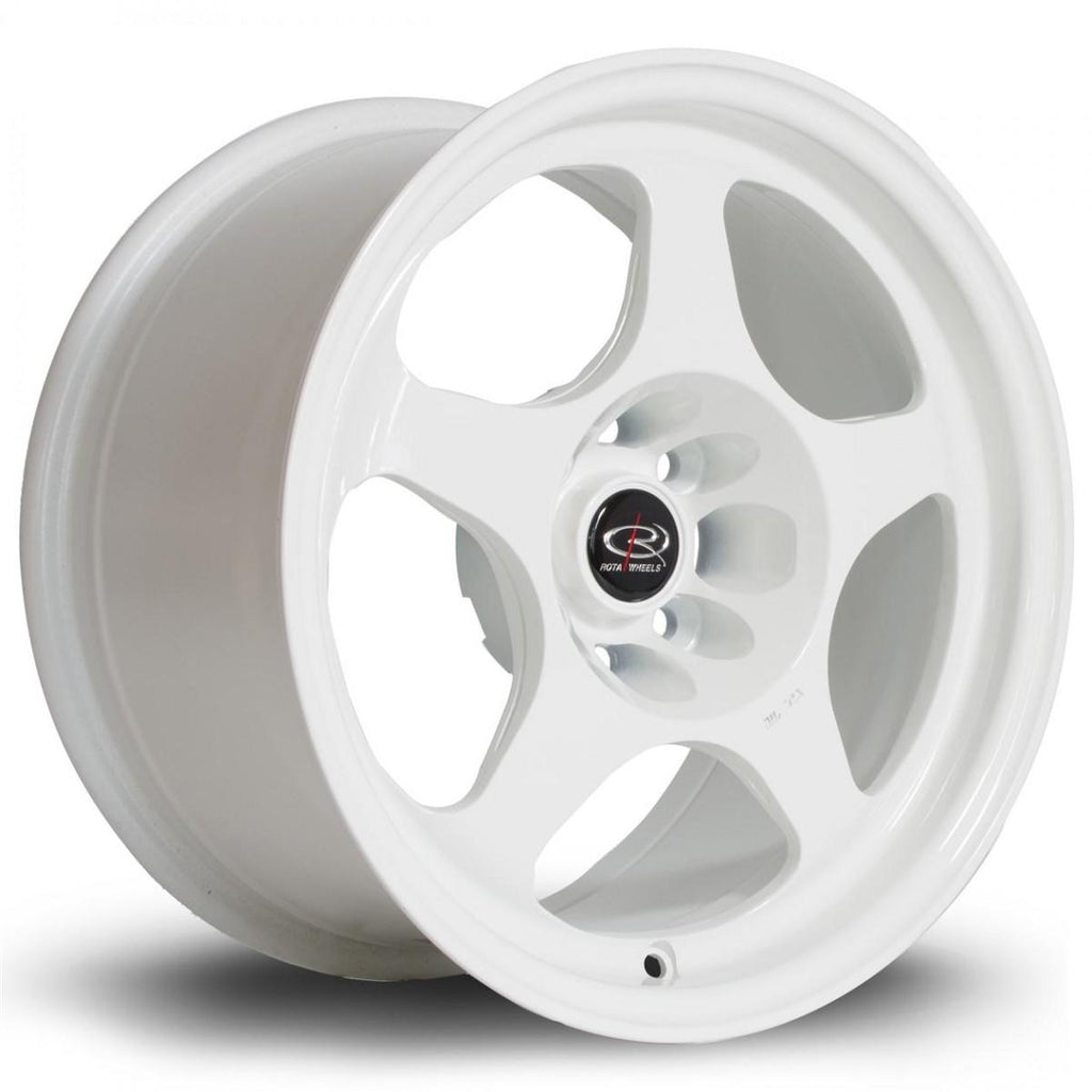 Rota Slipstream in White 17x7.5, 5x114.3, ET45