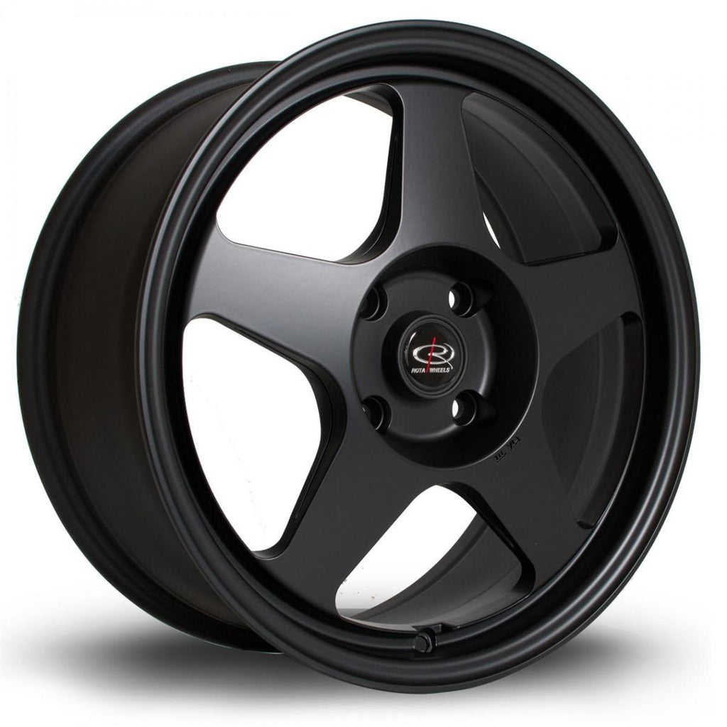 Rota Slipstream in Flat Black 17x8, 5x114.3, ET48