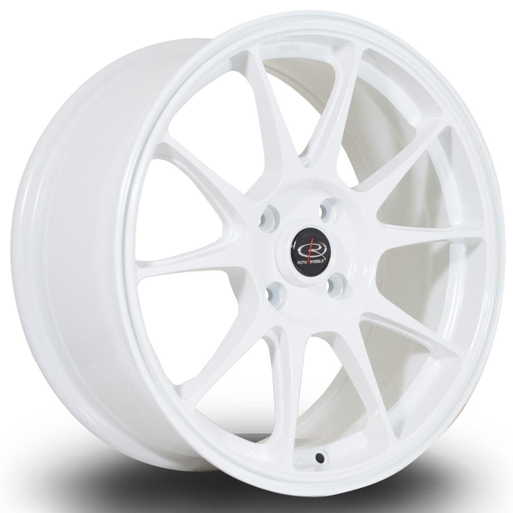 Rota Titan in White 18x9.5, 5x114.3, ET30
