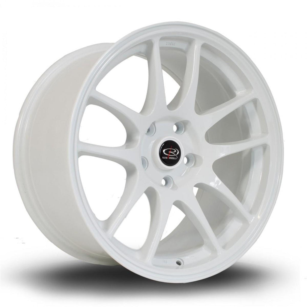 Rota Torque in White 18x9.5, 5x114.3, ET12