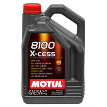 Load image into Gallery viewer, MOTUL 8100 X-CESS 5W40 SYNTHETIC ENGINE OIL