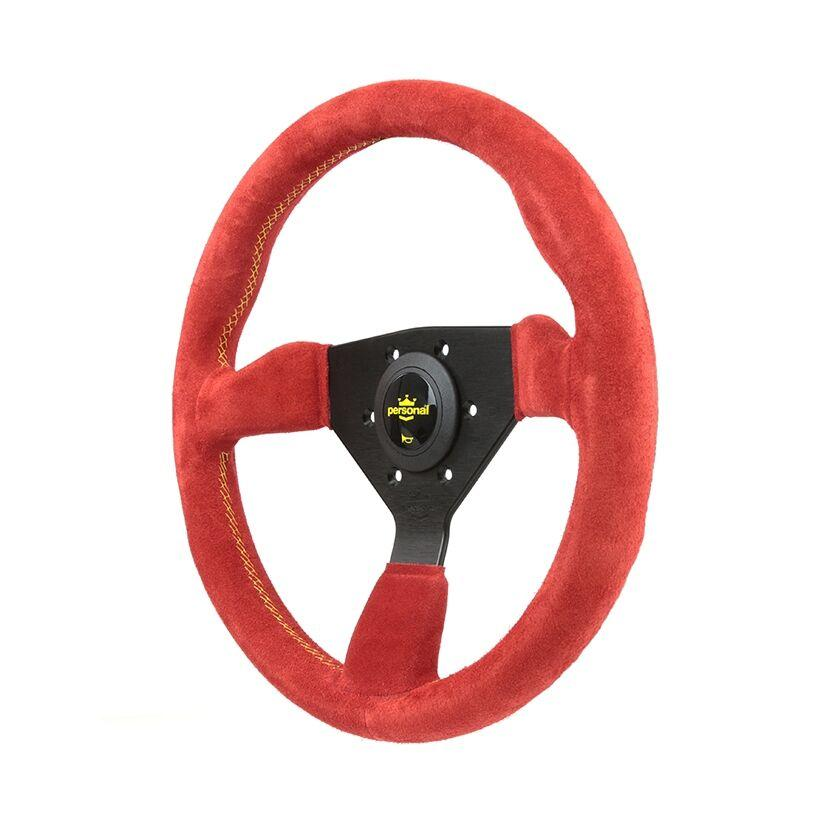 330MM PERSONAL GRINTA SUEDE LEATHER STEERING WHEEL