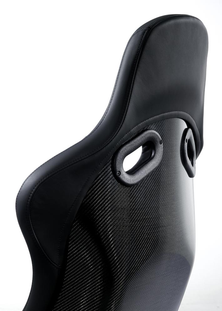 RECARO POLE POSITION - CARBON WITH ABE LEATHER BLACK
