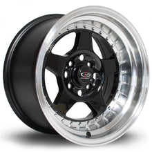 Load image into Gallery viewer, Rota Kyusha in Gloss Black with polished lip 15x9, 4x114.3, ET0