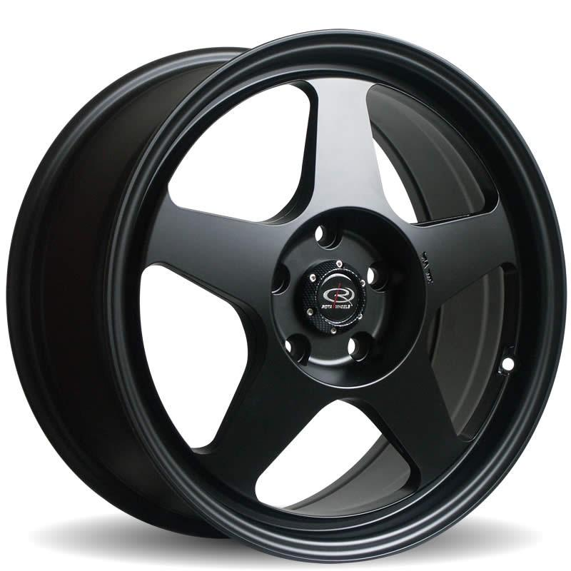 "16x8"" 4x100mm ET34 Rota Slipstream in Flat black"