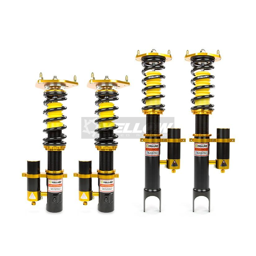 PORSCHE 911 997 TURBO YELLOW SPEED RACING CLUB PERFORMANCE COILOVERS