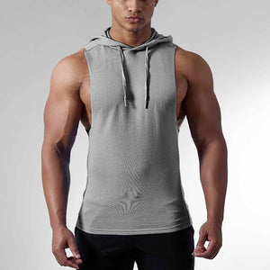 "fit-sleeves - ""Military"" Sleeveless Hoodie - Fit Sleeves -"