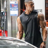 fit-sleeves - Men Sleeveless Hoodie - Fit Sleeves -