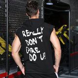 "fit-sleeves - ""Really Don't Care Do You?"" Workout Hoodie - Fit Sleeves -"