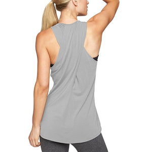 "fit-sleeves - ""Crossed"" Womens Workout Tank Top - Fit Sleeves -"