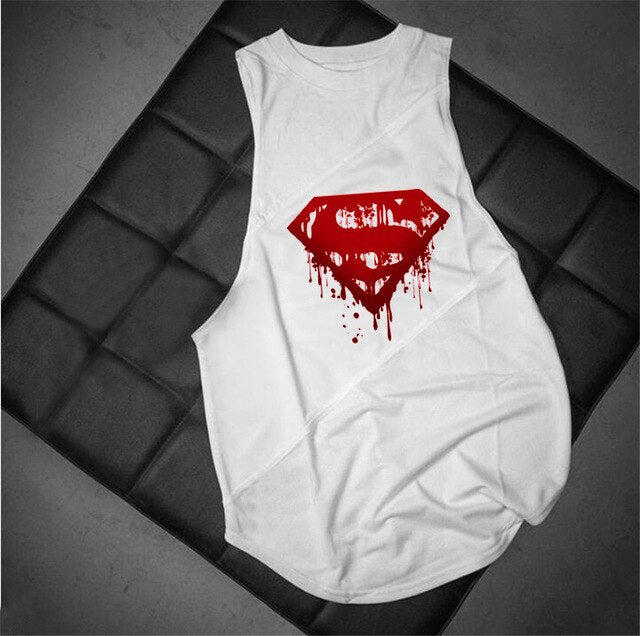 "fit-sleeves - ""Superman"" Sleeveless Hoodie - Fit Sleeves -"