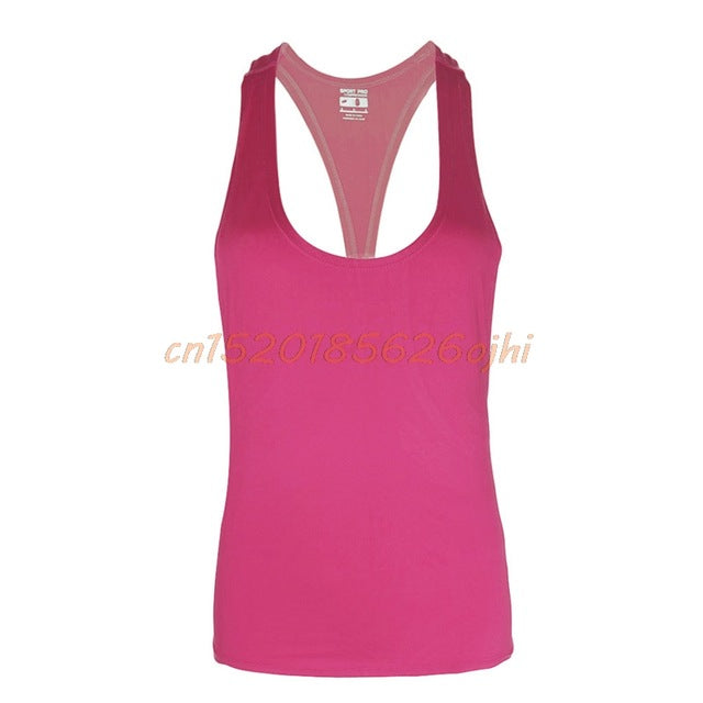 fit-sleeves - 1Pc Women Fitness Sports Tank Top Seamless Blouse Stretch Vest GYM Workout Shirt UNS-OKLE - Fit Sleeves -