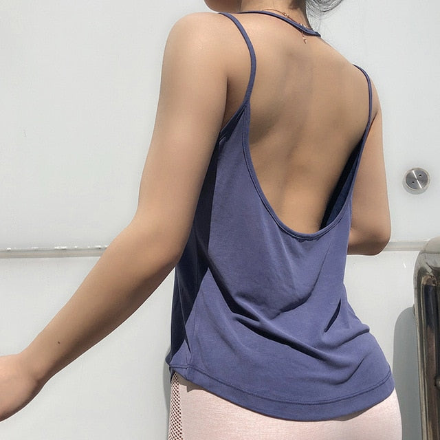 "fit-sleeves - ""Backless"" Tank Top - Fit Sleeves -"