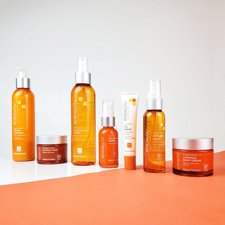 Andalou Naturals Brightening Range Products
