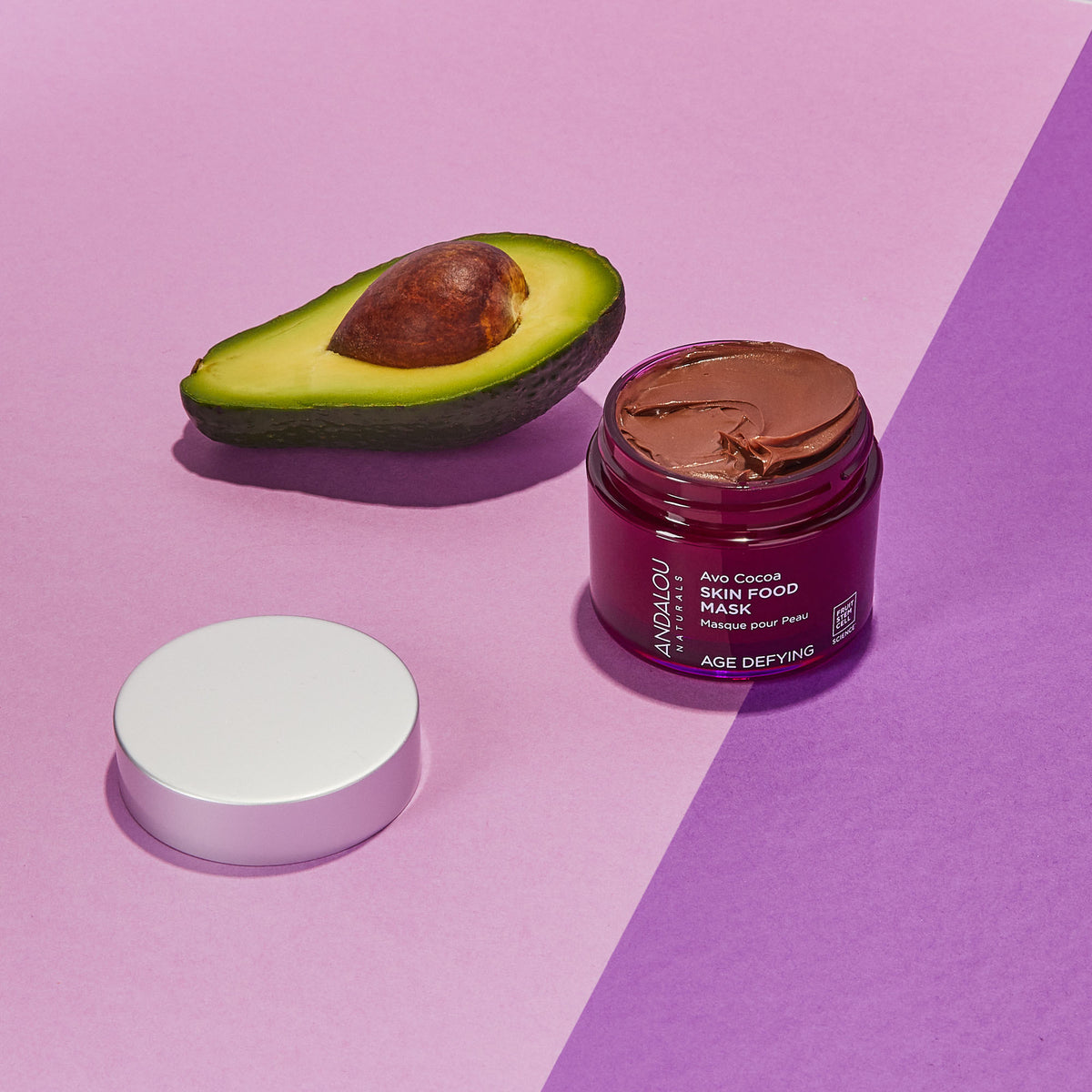 Andalou Naturals Age Defying Avo Cocoa Skin Food Mask with avocado