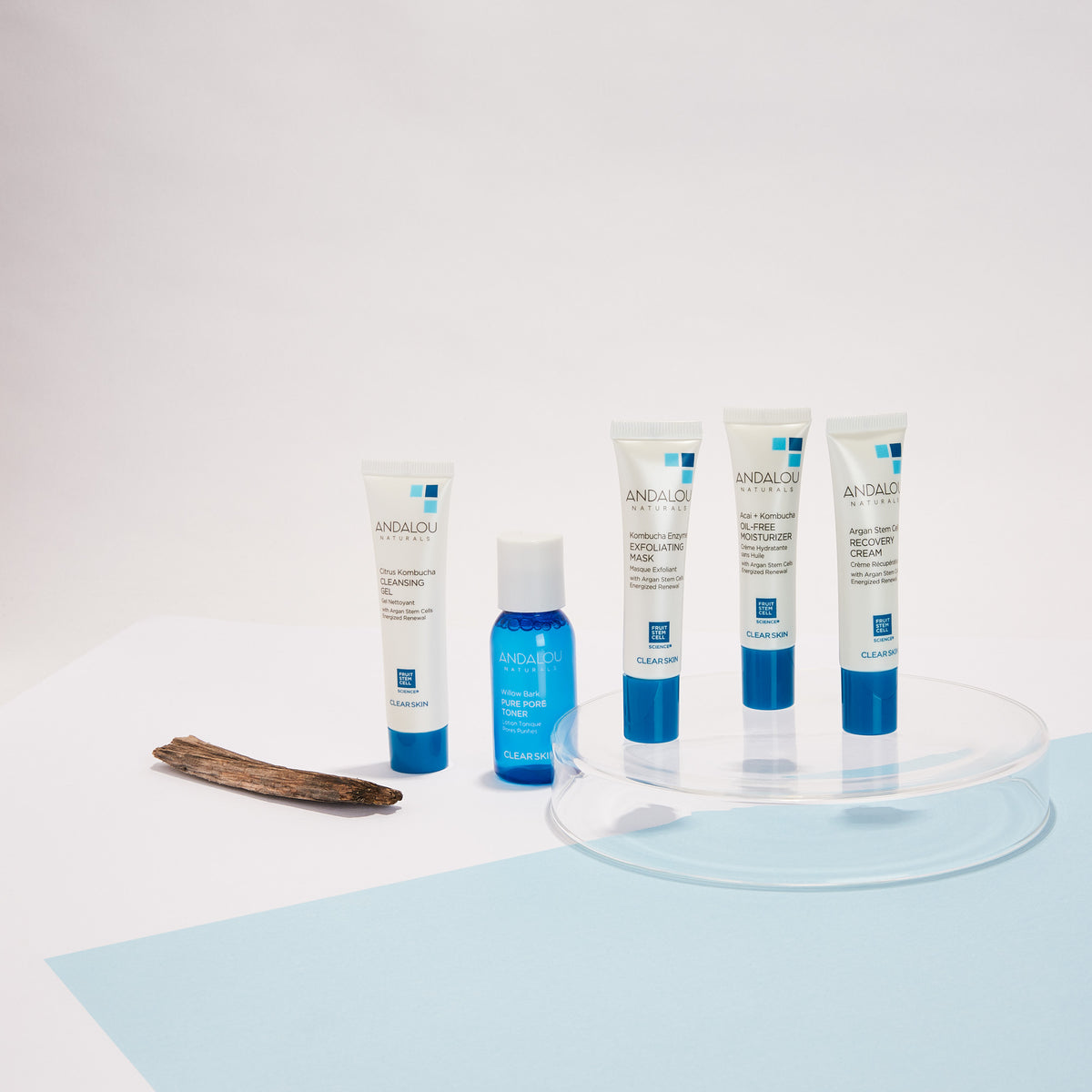 all the products of the Andalou Naturals Clear Skin Get Started Kit