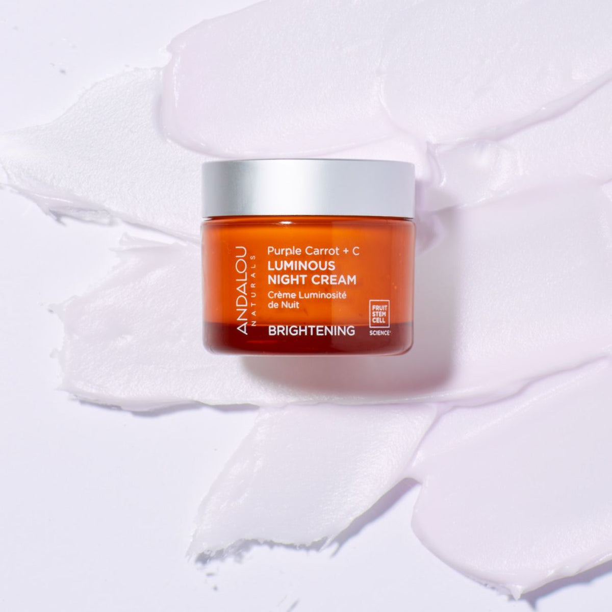 Brightening Purple Carrot + C Luminous Night Cream - Andalou Naturals US