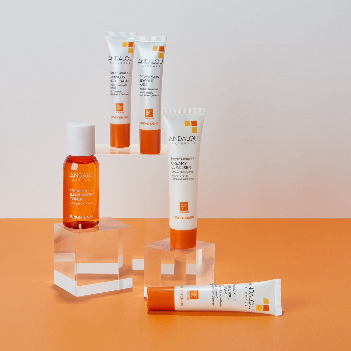 all the products of the Andalou Naturals Brightening Get Started Kit