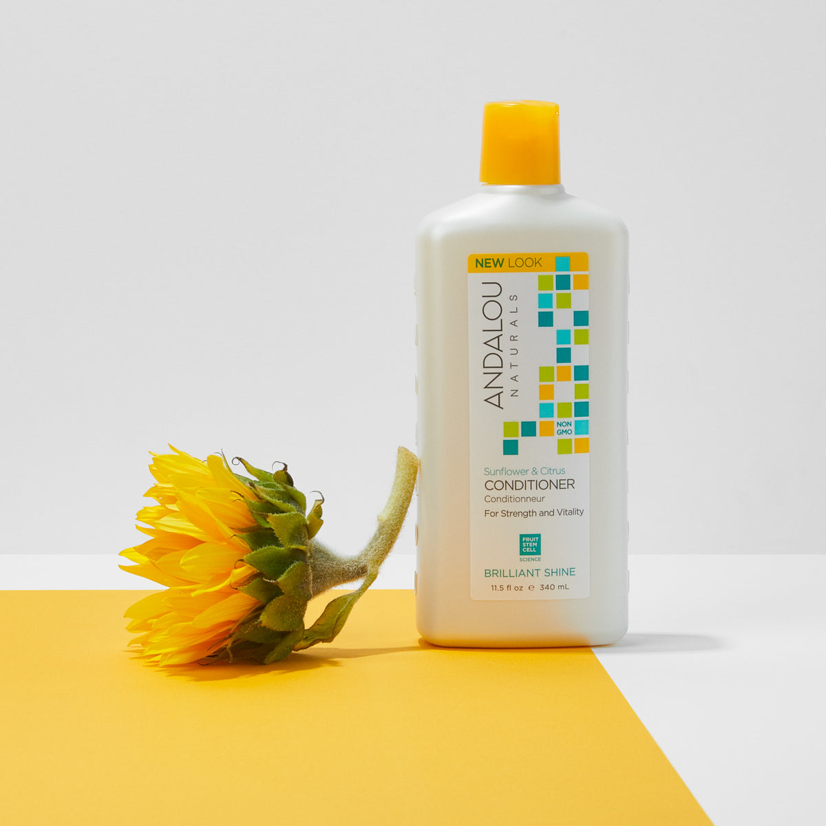 Sunflower & Citrus Brilliant Shine Conditioner - Andalou Naturals US
