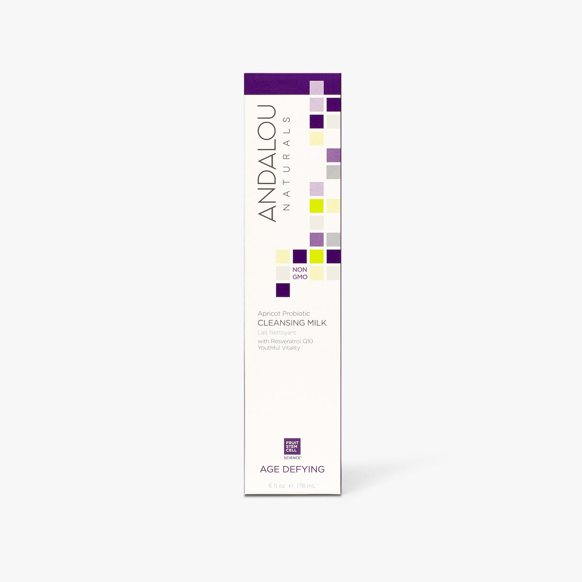 Andalou Naturals Age Defying Apricot Probiotic Cleansing Milk box