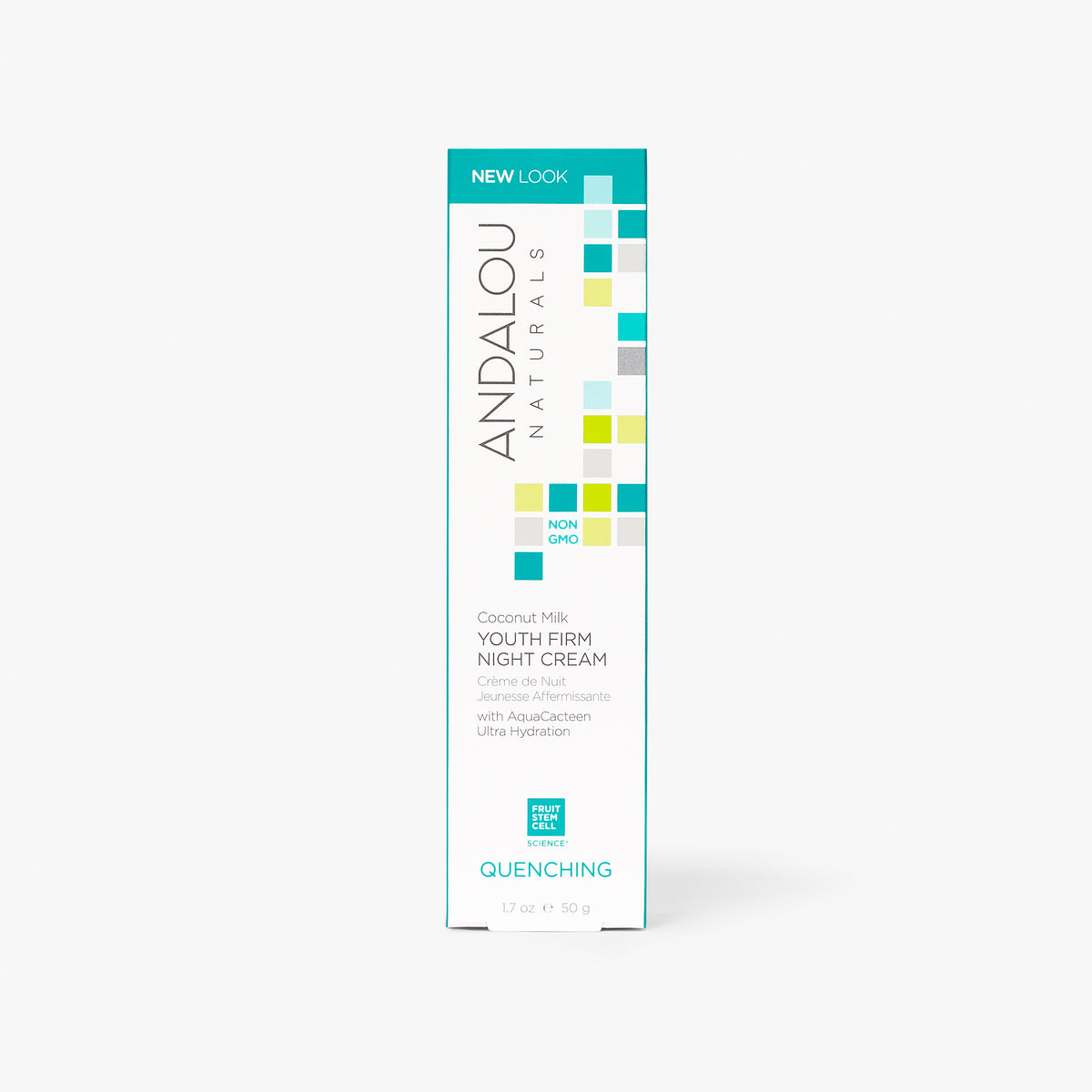 Andalou Naturals Quenching Coconut Milk Youth Firm Night Cream box