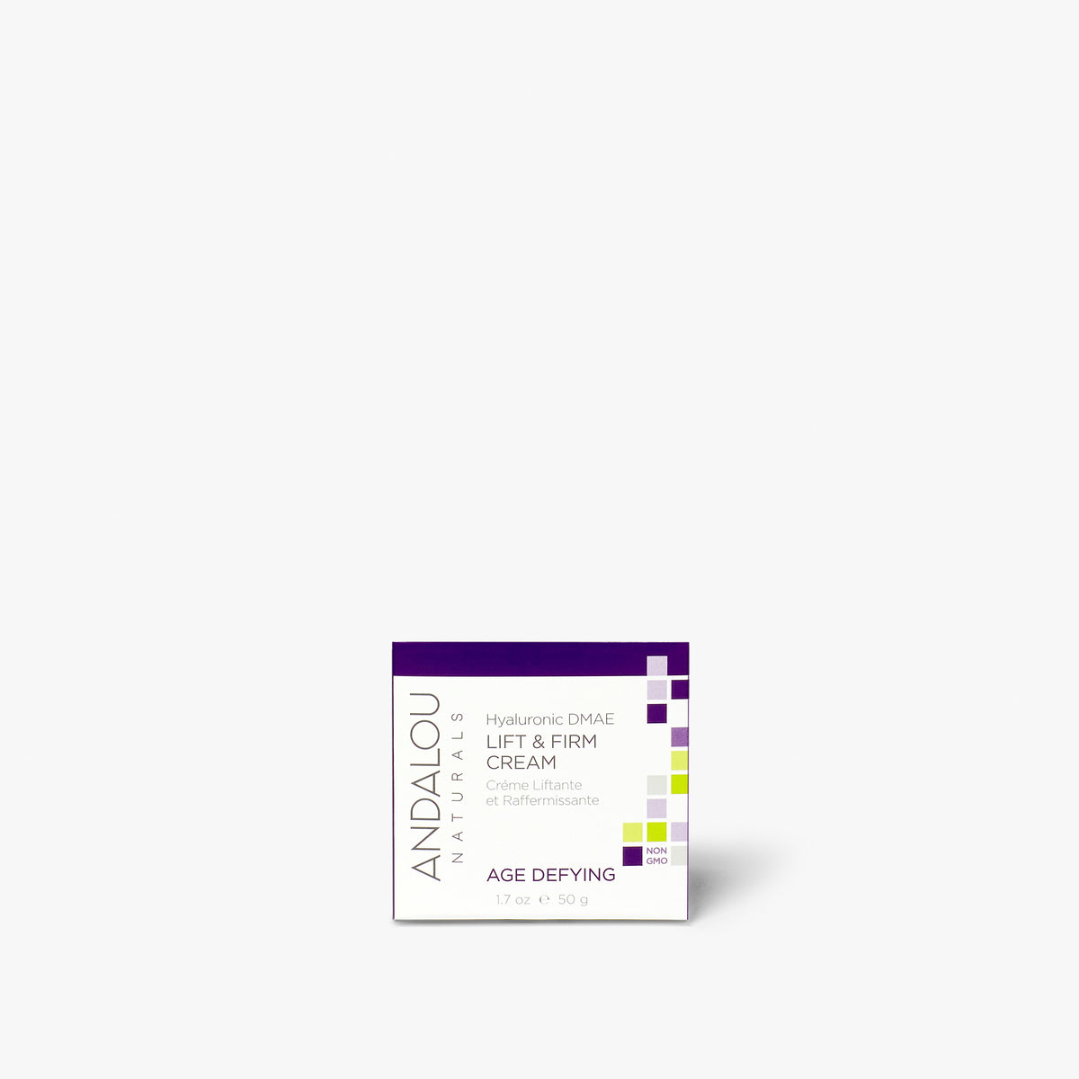 Andalou Naturals Age Defying Hyaluronic DMAE Lift & Firm Cream box