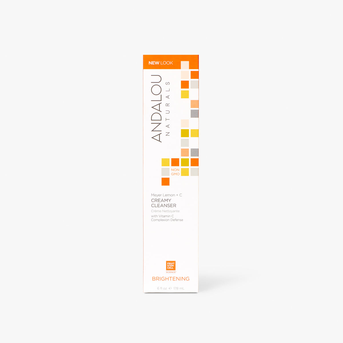 Andalou Naturals Brightening Meyer Lemon Creamy Cleanser box