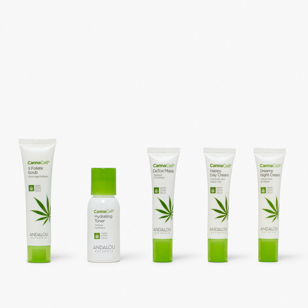 all the products of the Andalou Naturals  Cannacell Get Started Kit