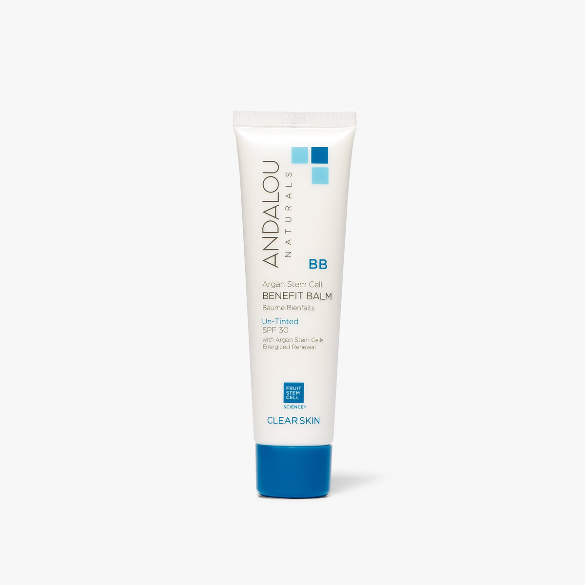 Clear Skin Argan Stem Cell BB Benefit Balm Un-Tinted SPF 30 - Andalou Naturals US