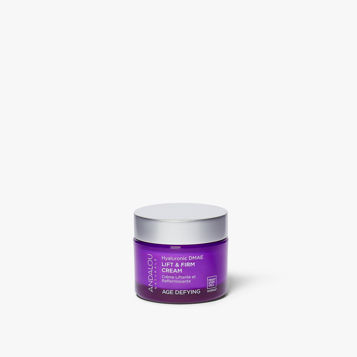 Andalou Naturals Age Defying Hyaluronic DMAE Lift & Firm Cream jar