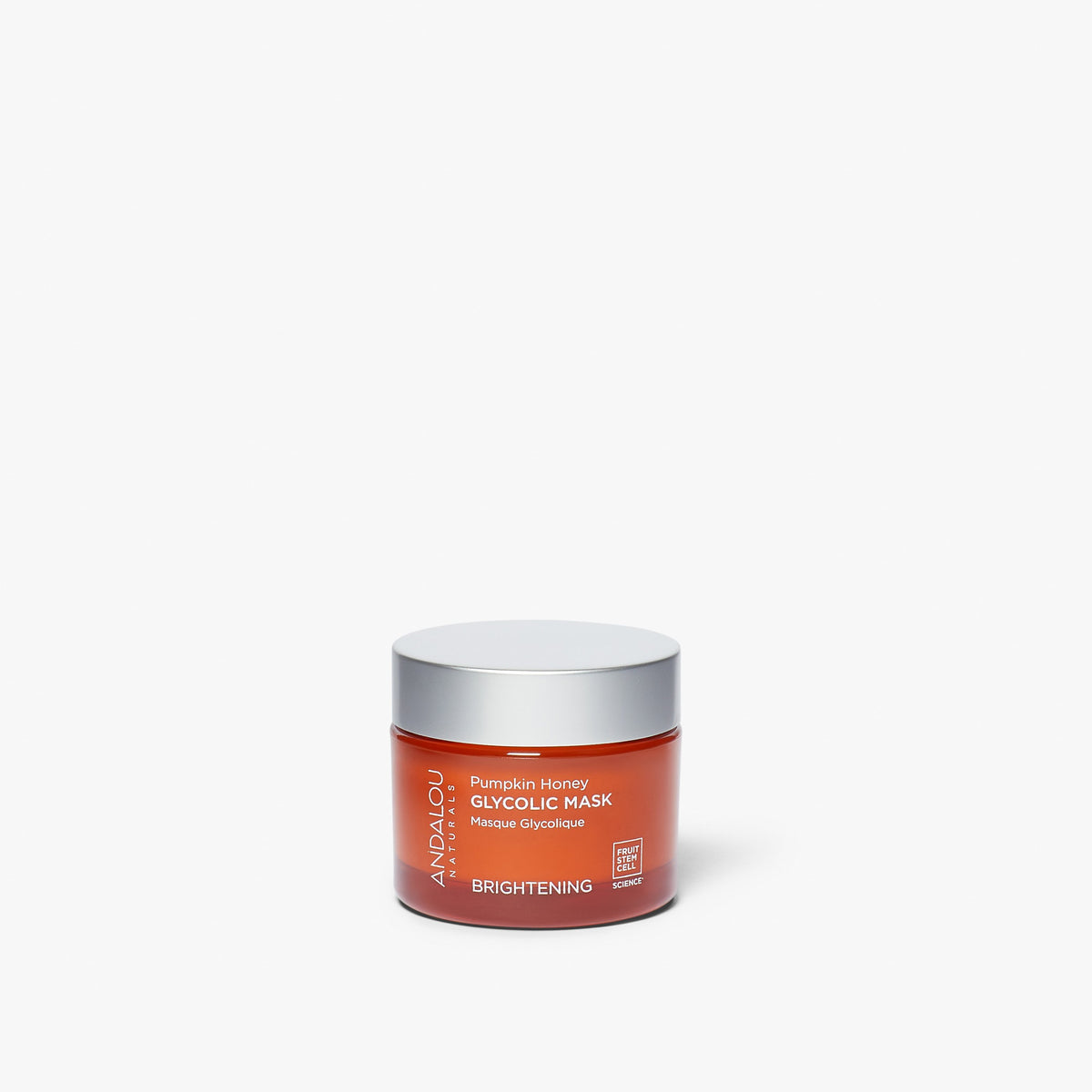 Jar of Andalou Naturals Brightening Pumpkin Honey Glycolic Mask