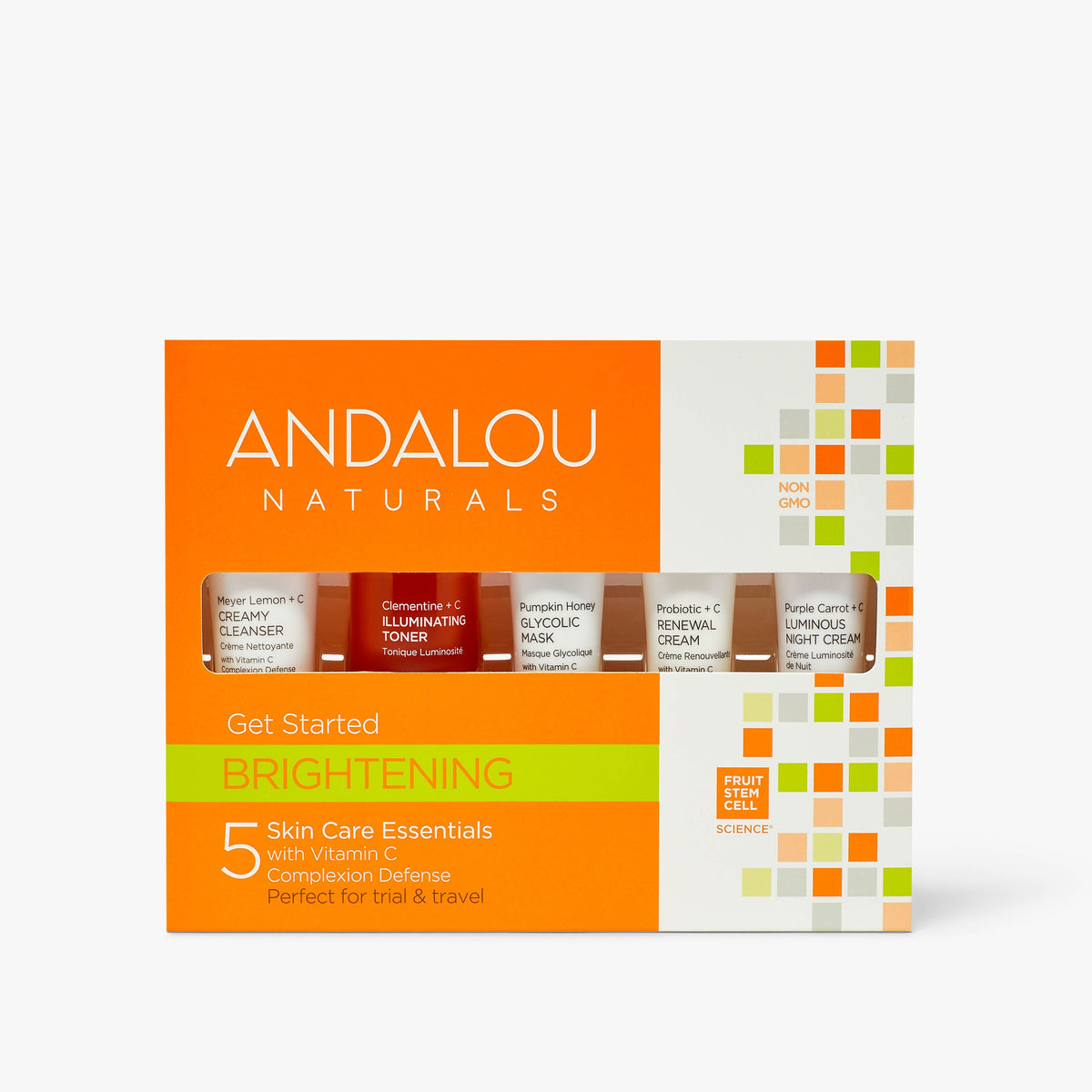 Andalou Naturals Brightening Get Started Kit packaging