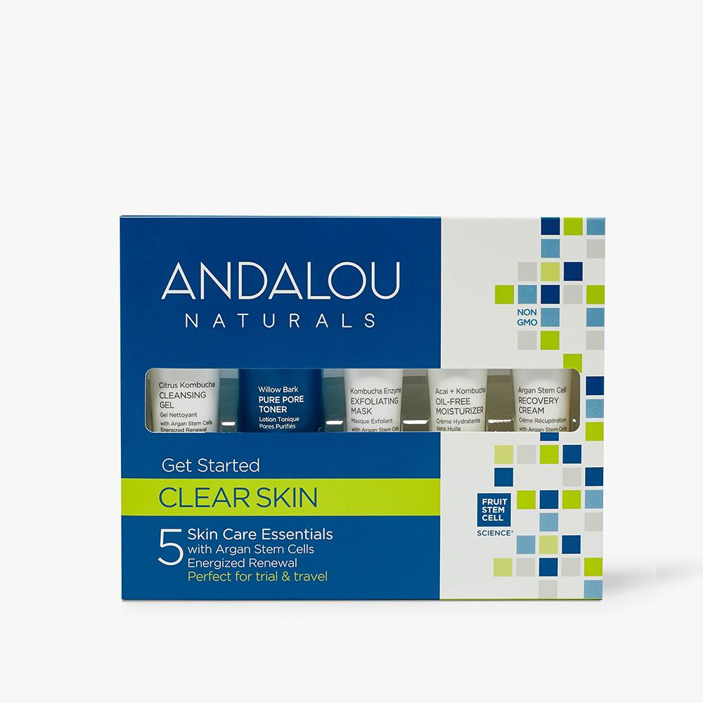 Andalou Naturals Clear Skin Get Started Kit packaging