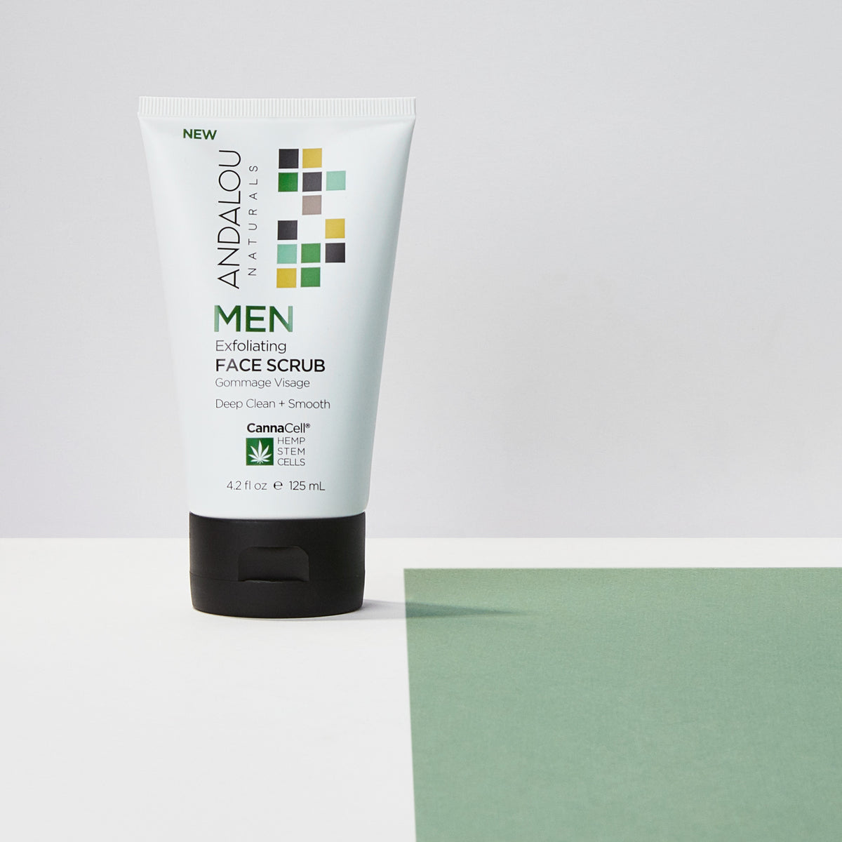 MEN Exfoliating Face Scrub - Andalou Naturals US
