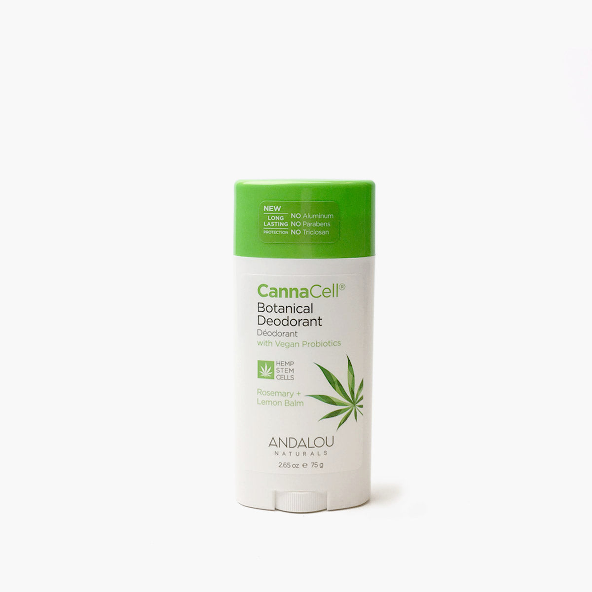 CannaCell Botanical Deodorant - Rosemary + Lemon Balm - Andalou Naturals US