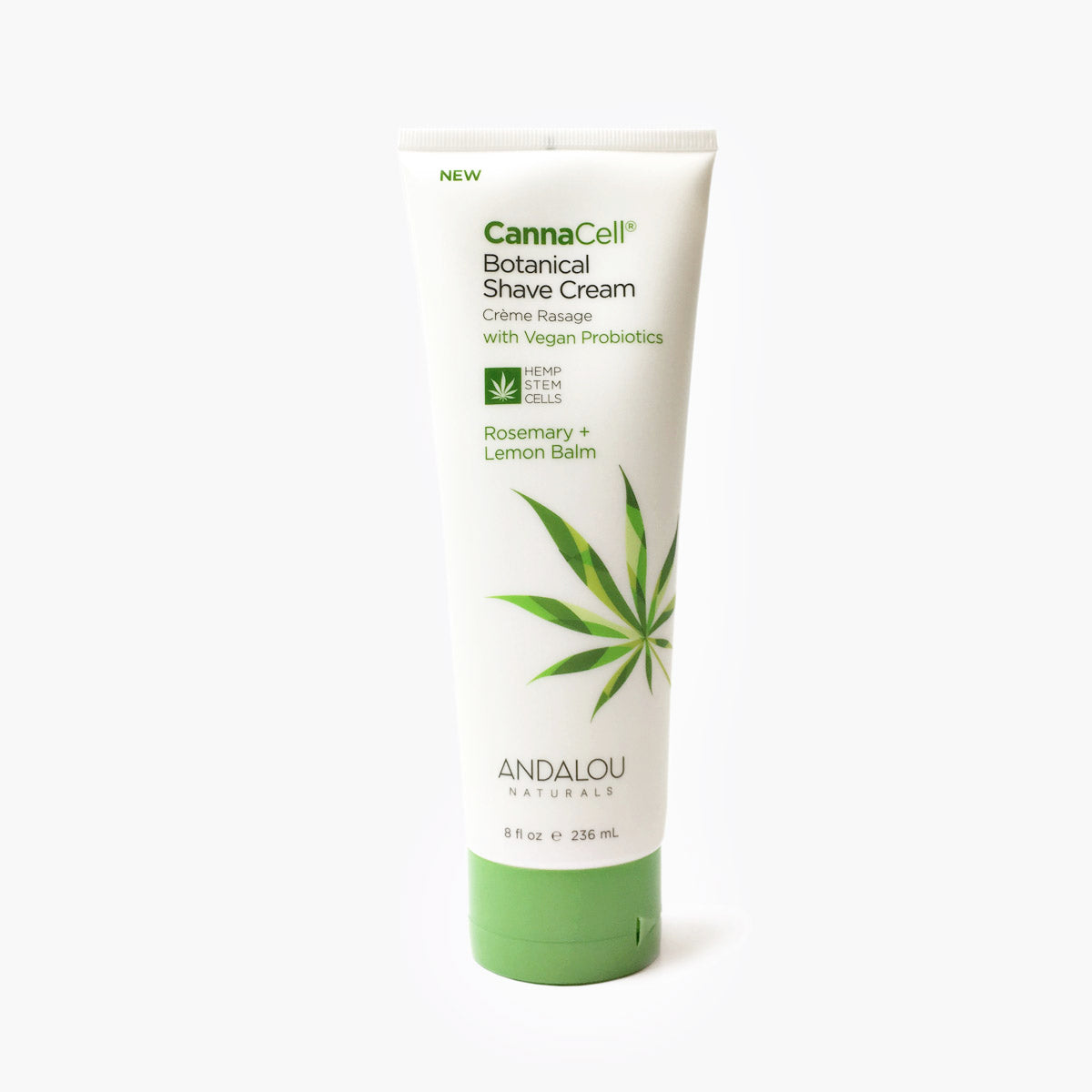 CannaCell Botanical Shave Cream - Rosemary + Lemon Balm - Andalou Naturals US