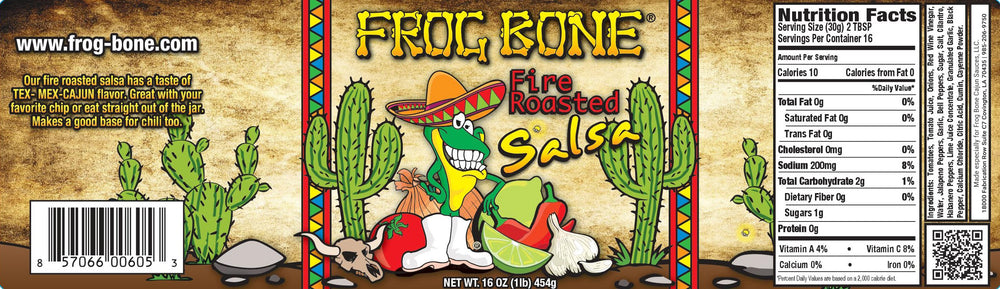 Frog Bone Fire Roasted Salsa, 16oz (Pack of 3)